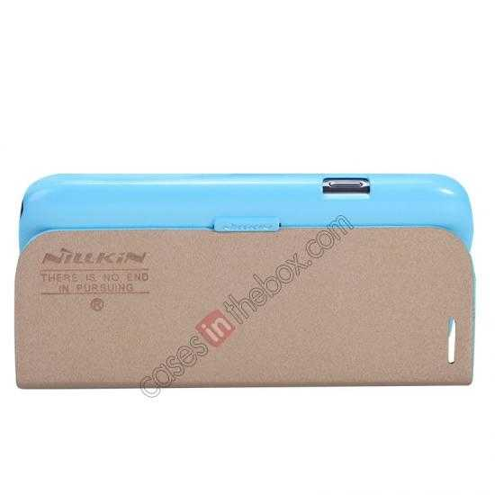 cheap NILLKIN Fresh Series Leather Case for Samsung Galaxy Grand Neo I9060 - Blue