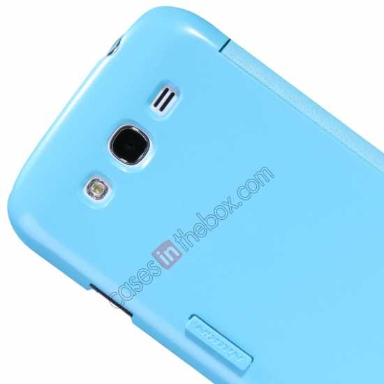 top quality NILLKIN Fresh Series Leather Case for Samsung Galaxy Grand Neo I9060 - Blue
