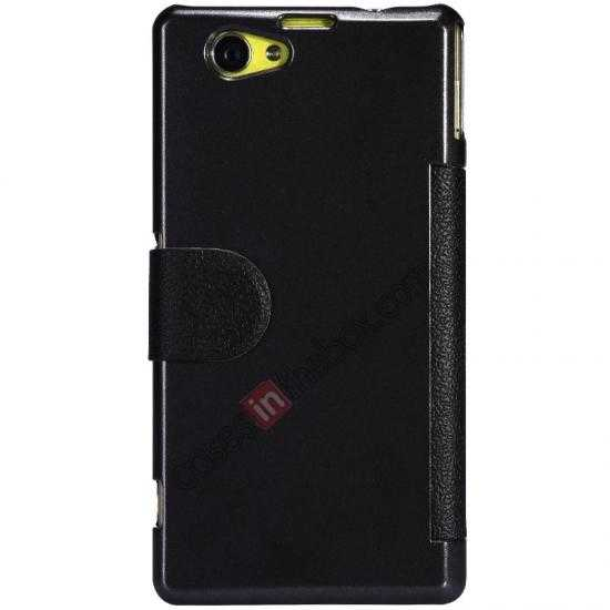discount Nillkin Fresh Series Leather Case for Sony Xperia Z1 Compact M51W - Black