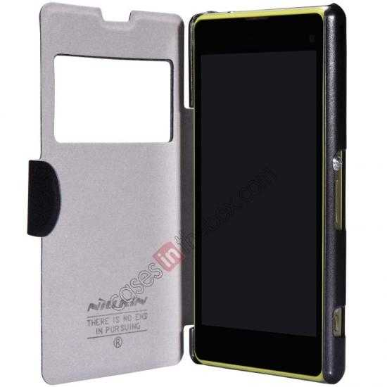 top quality Nillkin Fresh Series Leather Case for Sony Xperia Z1 Compact M51W - Black