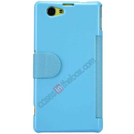 discount Nillkin Fresh Series Leather Case for Sony Xperia Z1 Compact M51W - Blue