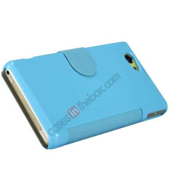 top quality Nillkin Fresh Series Leather Case for Sony Xperia Z1 Compact M51W - Blue