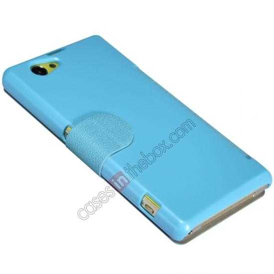 best price Nillkin Fresh Series Leather Case for Sony Xperia Z1 Compact M51W - Blue
