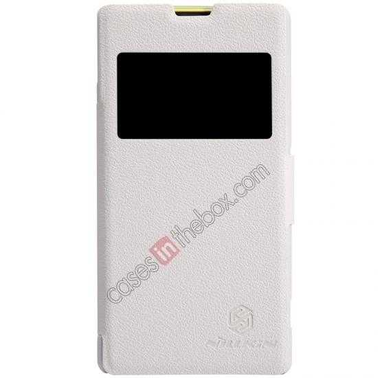 wholesale Nillkin Fresh Series Leather Case for Sony Xperia Z1 Compact M51W - White