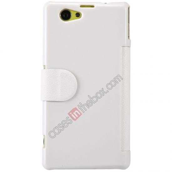 discount Nillkin Fresh Series Leather Case for Sony Xperia Z1 Compact M51W - White