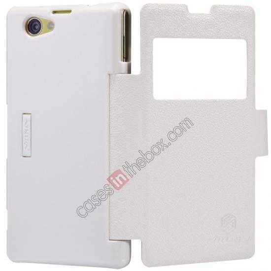top quality Nillkin Fresh Series Leather Case for Sony Xperia Z1 Compact M51W - White