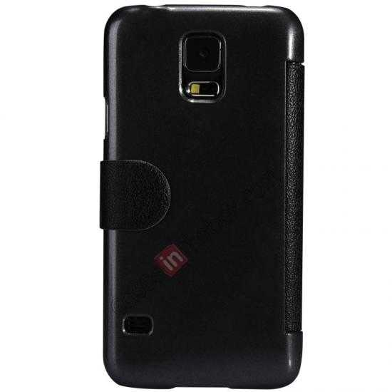 cheap Nillkin Fresh Series Magnetic Flip Leather Case Cover for Samsung Galaxy S5 - Black