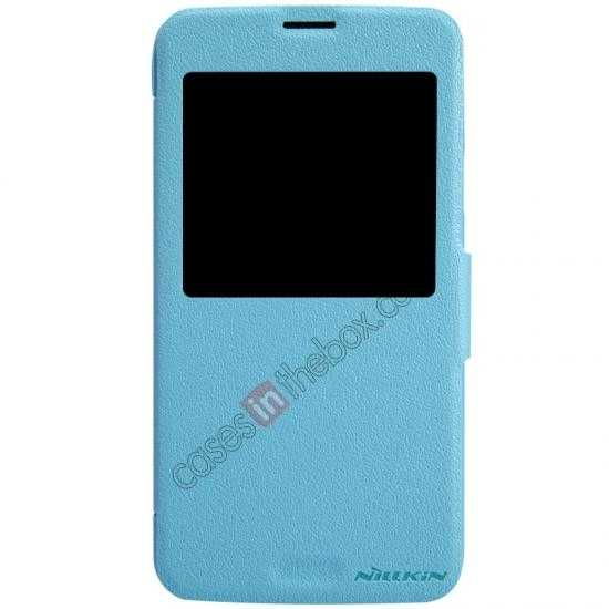 discount Nillkin Fresh Series Magnetic Flip Leather Case Cover for Samsung Galaxy S5 - Blue