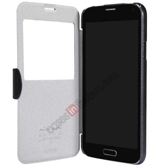 low price Nillkin Fresh Series Magnetic Flip Leather Case Cover for Samsung Galaxy S5 - White