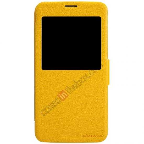 discount Nillkin Fresh Series Magnetic Flip Leather Case Cover for Samsung Galaxy S5 - Yellow
