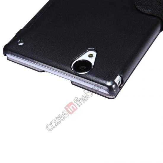 on sale Nillkin Fresh Series Magnetic Flip Leather Case Cover for Sony Xperia T2 Ultra - Black