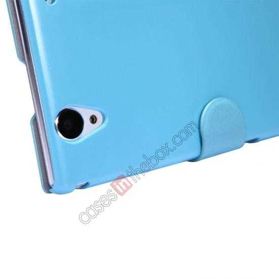 cheap Nillkin Fresh Series Magnetic Flip Leather Case Cover for Sony Xperia T2 Ultra - Blue