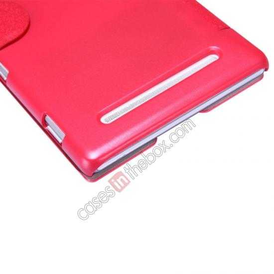 discount Nillkin Fresh Series Magnetic Flip Leather Case Cover for Sony Xperia T2 Ultra - Red