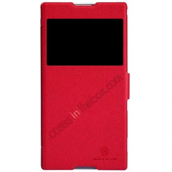 wholesale Nillkin Fresh Series Magnetic Flip Leather Case Cover for Sony Xperia T2 Ultra - Red