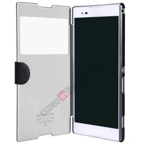 low price Nillkin Fresh Series Magnetic Flip Leather Case Cover for Sony Xperia T2 Ultra - White
