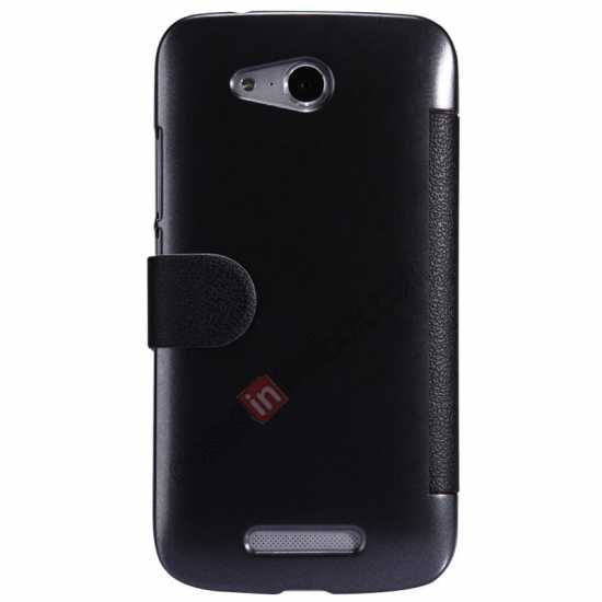 discount Nillkin Fresh Series Side Flip Leather Case for Huawei B199 - Black