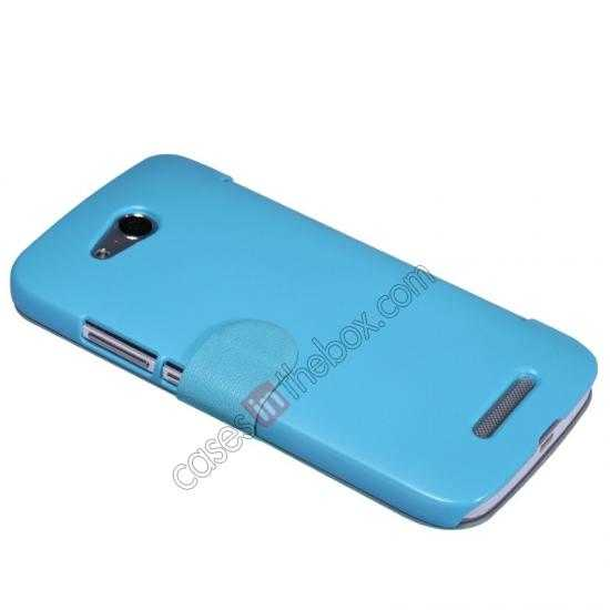 discount Nillkin Fresh Series Side Flip Leather Case for Huawei B199 - Blue