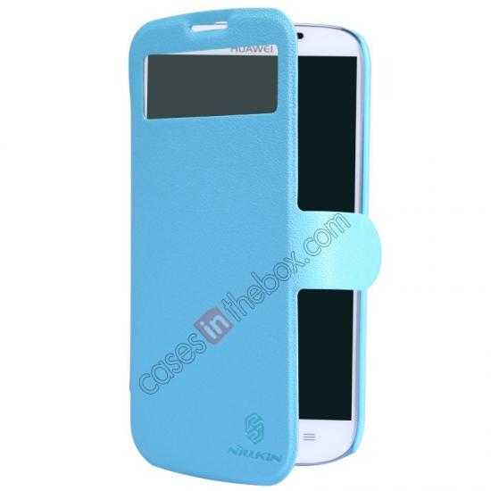 cheap Nillkin Fresh Series Side Flip Leather Case for Huawei B199 - Blue