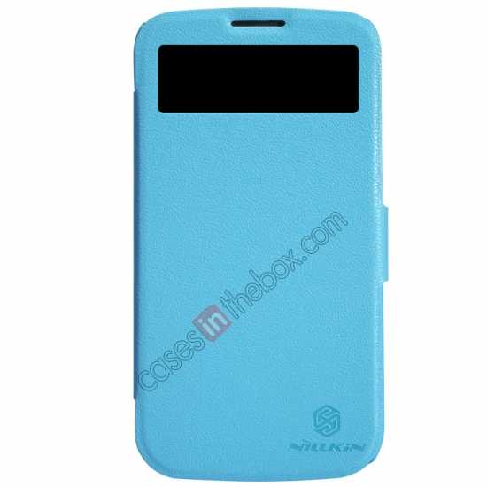 wholesale Nillkin Fresh Series Side Flip Leather Case for Huawei B199 - Blue