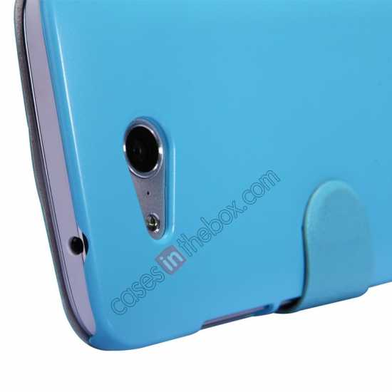 top quality Nillkin Fresh Series Side Flip Leather Case for Huawei B199 - Blue