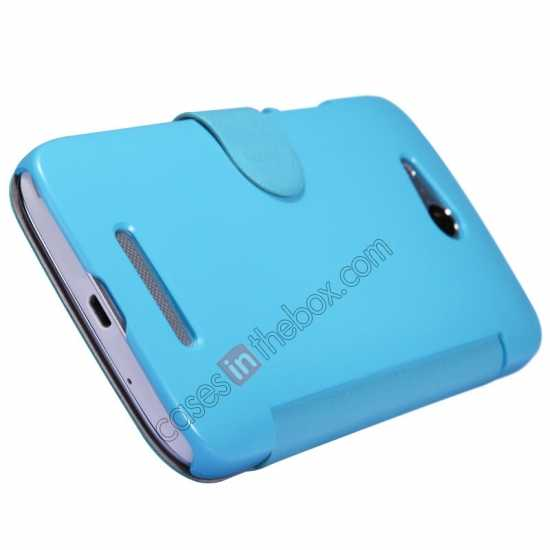 best price Nillkin Fresh Series Side Flip Leather Case for Huawei B199 - Blue
