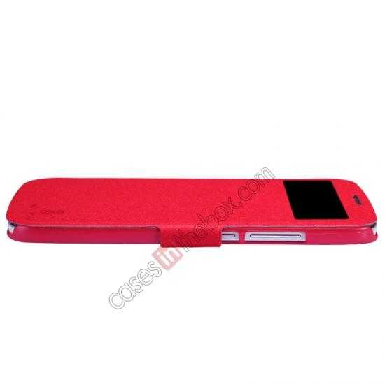 cheap Nillkin Fresh Series Side Flip Leather Case for Huawei B199 - Red