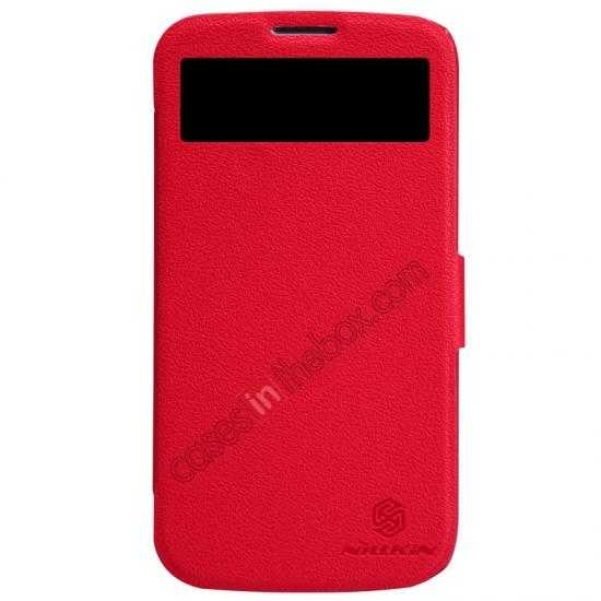 wholesale Nillkin Fresh Series Side Flip Leather Case for Huawei B199 - Red