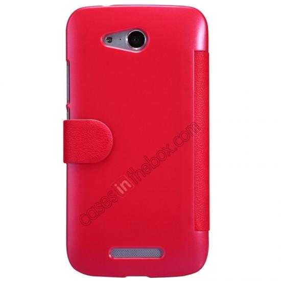 discount Nillkin Fresh Series Side Flip Leather Case for Huawei B199 - Red