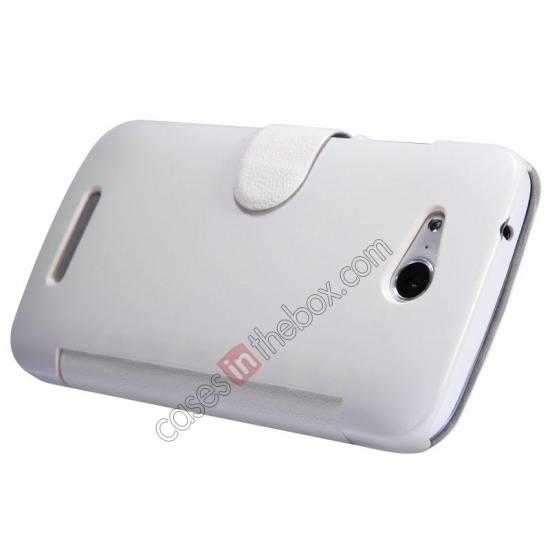 discount Nillkin Fresh Series Side Flip Leather Case for Huawei B199 - White