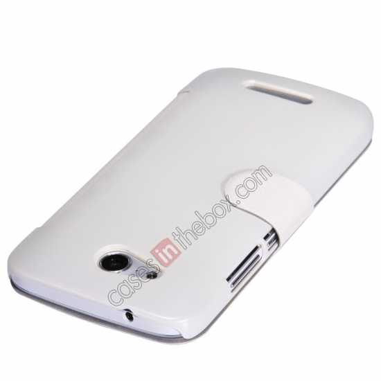 top quality Nillkin Fresh Series Side Flip Leather Case for Huawei B199 - White
