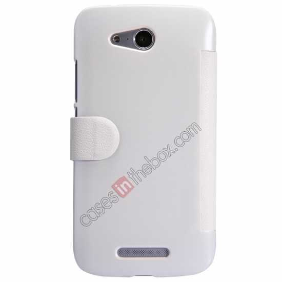 best price Nillkin Fresh Series Side Flip Leather Case for Huawei B199 - White