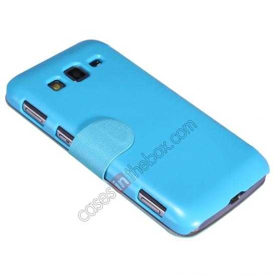 discount Nillkin Fresh Series Side Flip Leather Case for Samsung I8580(Galaxy Core Advance) - Blue
