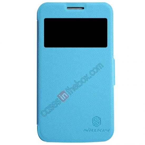 wholesale Nillkin Fresh Series Side Flip Leather Case for Samsung I8580(Galaxy Core Advance) - Blue