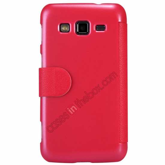 discount Nillkin Fresh Series Side Flip Leather Case for Samsung I8580(Galaxy Core Advance) - Red