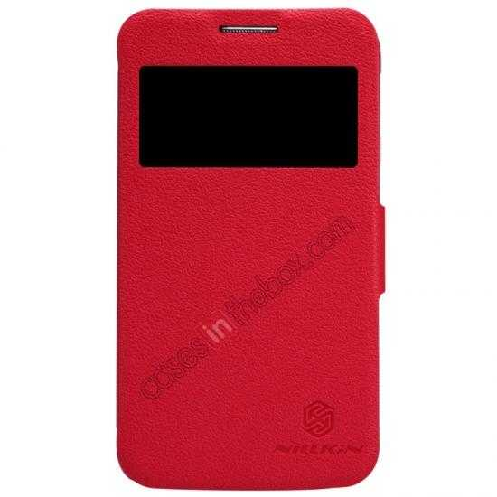wholesale Nillkin Fresh Series Side Flip Leather Case for Samsung I8580(Galaxy Core Advance) - Red