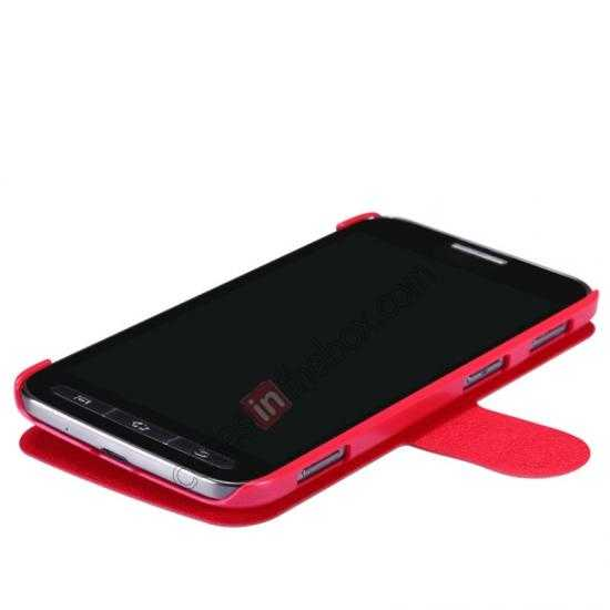top quality Nillkin Fresh Series Side Flip Leather Case for Samsung I8580(Galaxy Core Advance) - Red