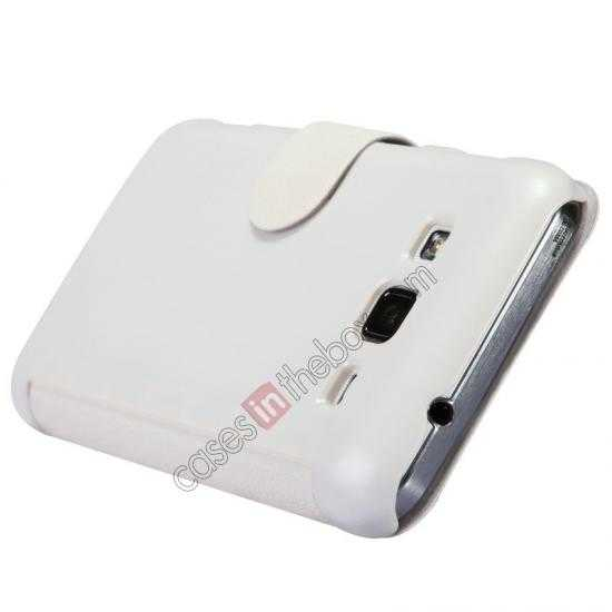 discount Nillkin Fresh Series Side Flip Leather Case for Samsung I8580(Galaxy Core Advance) - White