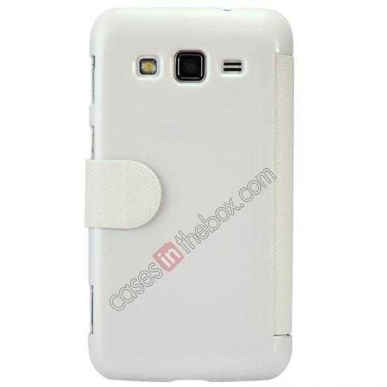 top quality Nillkin Fresh Series Side Flip Leather Case for Samsung I8580(Galaxy Core Advance) - White