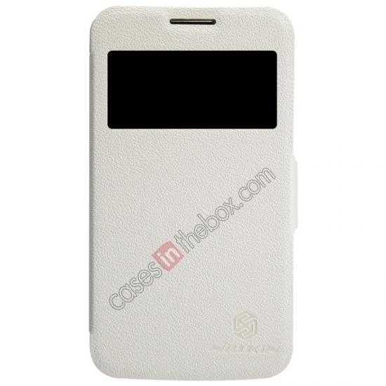 wholesale Nillkin Fresh Series Side Flip Leather Case for Samsung I8580(Galaxy Core Advance) - White