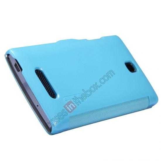 top quality Nillkin Fresh Series Slim Flip Leather Case For OPPO R831T - Blue