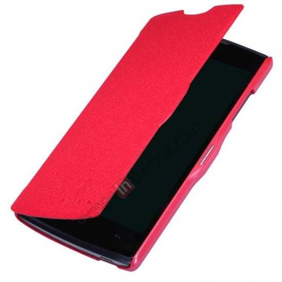 best price Nillkin Fresh Series Slim Flip Leather Case For OPPO R831T - Red