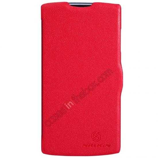 wholesale Nillkin Fresh Series Slim Flip Leather Case For OPPO R831T - Red