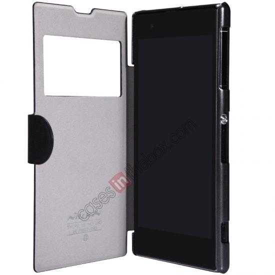 top quality Nillkin Fresh Series Slim Flip Leather Case For Sony L39U - Black