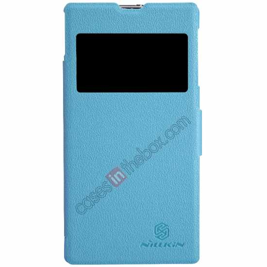 wholesale Nillkin Fresh Series Slim Flip Leather Case For Sony L39U - Blue