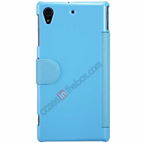 discount Nillkin Fresh Series Slim Flip Leather Case For Sony L39U - Blue