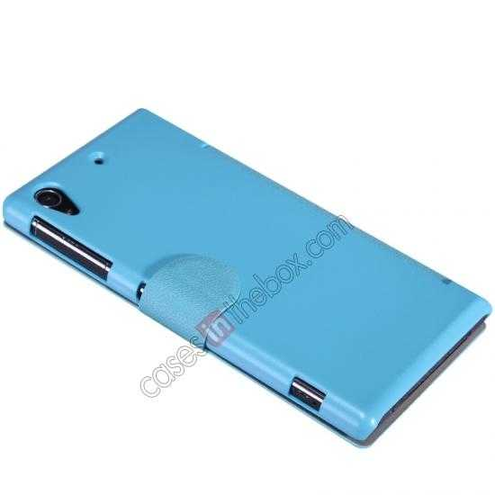 cheap Nillkin Fresh Series Slim Flip Leather Case For Sony L39U - Blue
