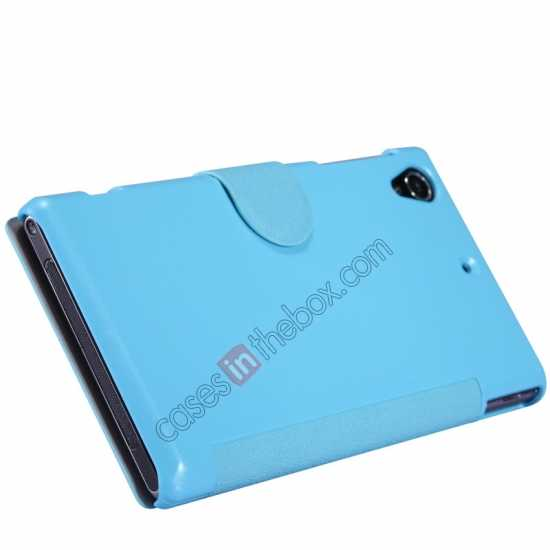 top quality Nillkin Fresh Series Slim Flip Leather Case For Sony L39U - Blue