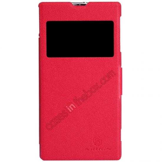 wholesale Nillkin Fresh Series Slim Flip Leather Case For Sony L39U - Red