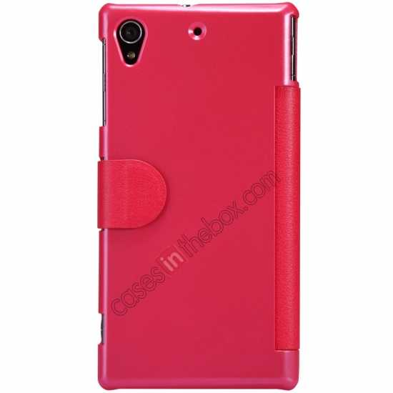 discount Nillkin Fresh Series Slim Flip Leather Case For Sony L39U - Red