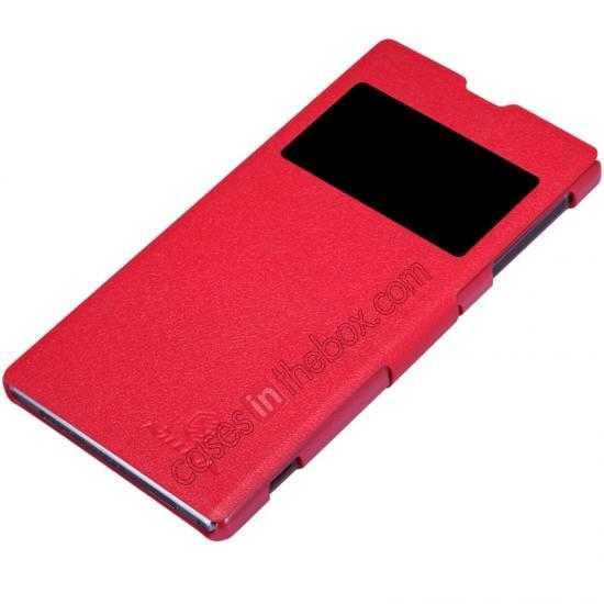 best price Nillkin Fresh Series Slim Flip Leather Case For Sony L39U - Red